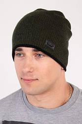 Мужская шапка с подкладкой на флисе