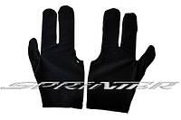 Перчатки для бильярда черные