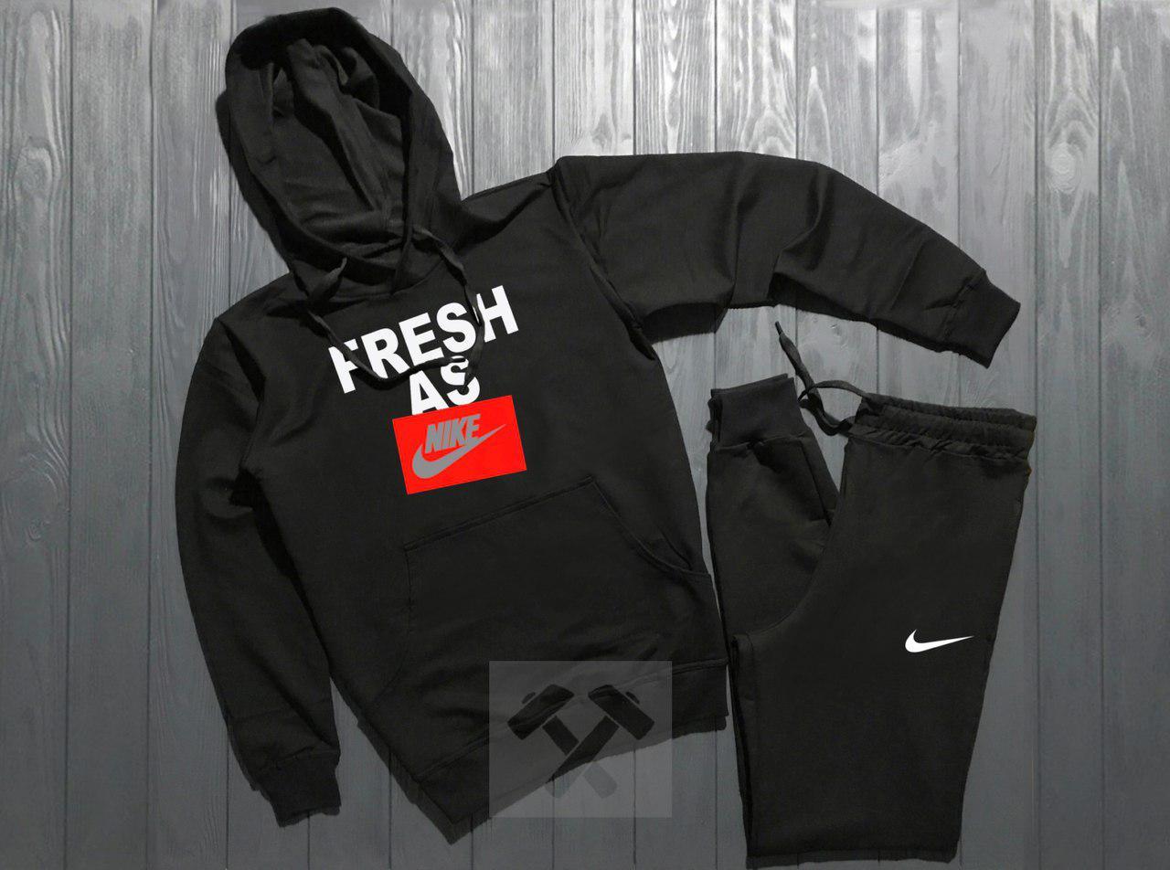 Спортивный костюм Adidas fresh as черный топ реплика