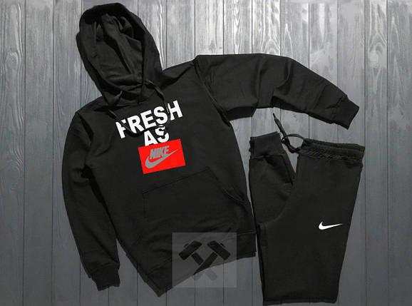 Спортивный костюм Adidas fresh as черный топ реплика, фото 2