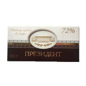 """Шоколад Президент 72% без сахара 90г от фабрики """"Коммунарка, фото 2"""