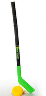 ХОКЕЙ M 2912 ключка 73см, шайба 8,5 см, 3 кольори, в сітці FFP