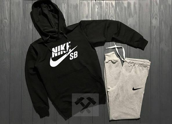 Спортивный костюм Nike SB черно-серый топ реплика, фото 2