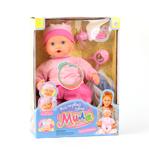 Кукла 5259  МИЛА растет зуб