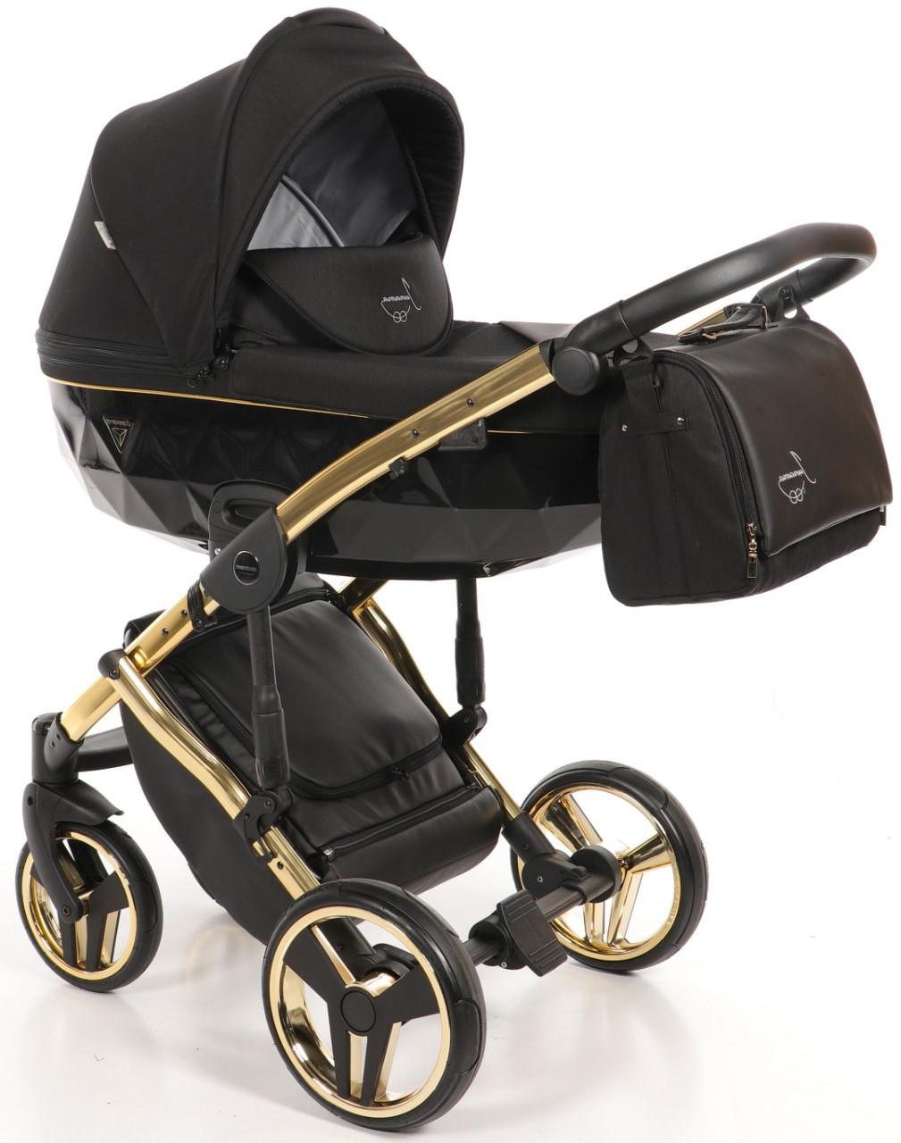 Детская универсальная коляска 2 в 1 Junama Diamond S-line Gold