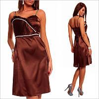 Коричневое платье с элегантно подчеркнутой талией
