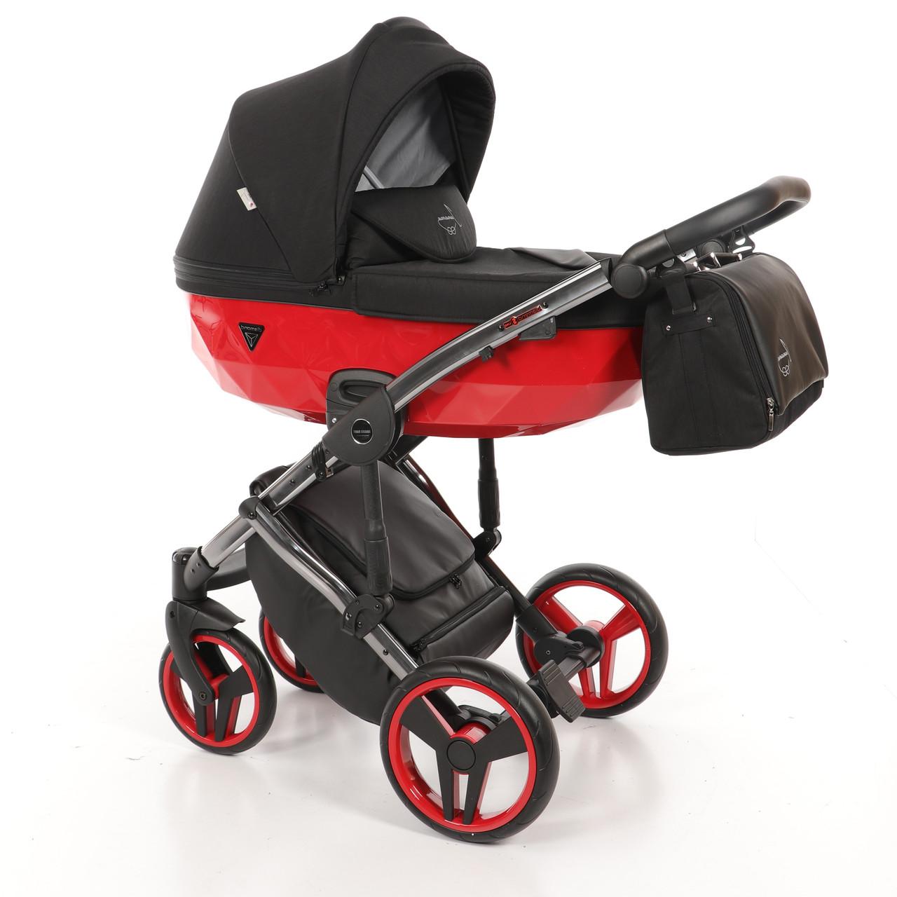 Детская универсальная коляска 2 в 1 Junama Diamond S-line Red