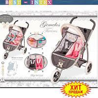 Коляска для куклы 90311 Двухместная Jemelos Twins (70-48-75 см)