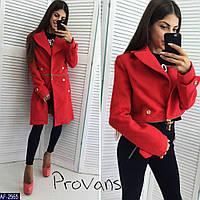 8d8117d6c0f6 Стильное пальто пиджак трансформер на змейке низ съёмный красный, модная  женская одежда