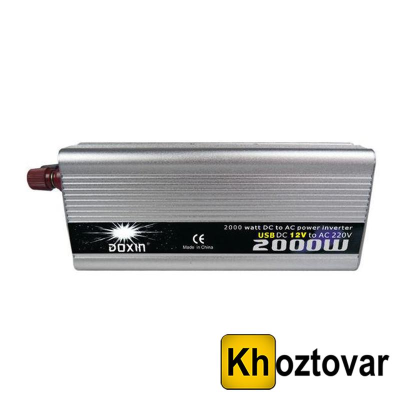 Інвертор перетворювач Doxin 12v-220v 2000W