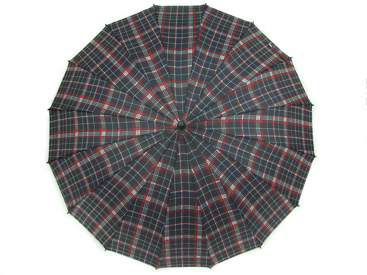 Большой зонт трость Jing Pin полуавтомат 16 спиц зонты мужские