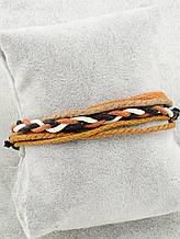Браслет из эко кожи, цвет коричневый и его оттенки \ Sb - 0171