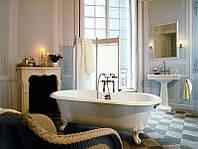 Установка ванны со смесителем и душем