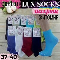 Женские носки демисезонные Lux socks Житомир Украина 37-40р однотонные  НЖД-021025