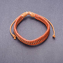 Браслет из эко кожи, цвет коричневый и его оттенки \ Sb - 0172