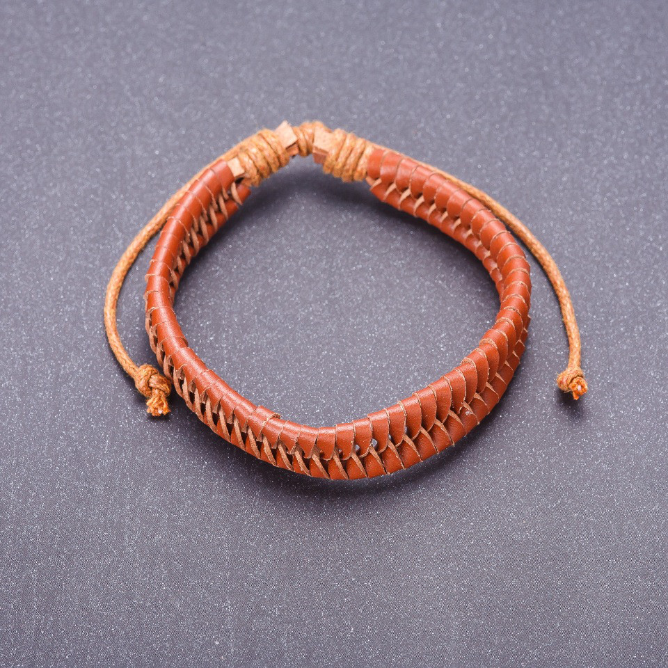 Браслет из эко кожи, цвет коричневый и его оттенки \ Sb - 0172.