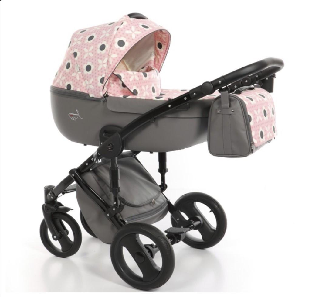 Детская универсальная коляска 2 в 1 Junama Fashion Pro Flower