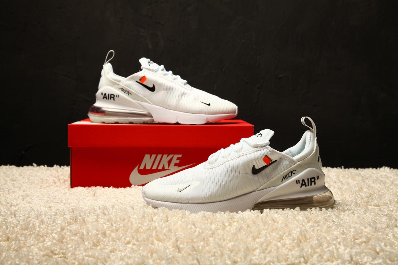 46a09f23 Мужские кроссовки Off white x Nike Air Max 270 - Обувь и одежда с доставкой  по