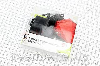 Задняя фара , мигалка с лазерной подсветкой 8диодов JY-3L, фото 3