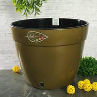 Горшок дренажный для растений Santino Asti Золото-черный 2.5 л