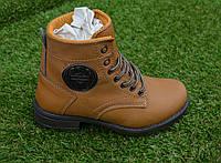 Демисезонные детские ботинки коричневые Timberland, копия, фото 1