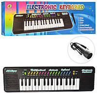 Детский синтезатор 3218 32 клавиши, микрофон,рег.громк,3тона,3ритма,на бат-ке