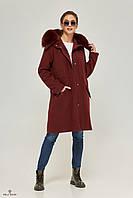 Парка-пальто женская ML бордо