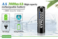 Аккумуляторные батарейки АА 3000мач