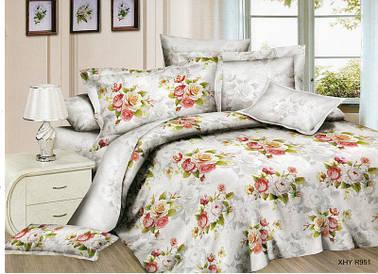 Полуторный набор постельного белья из Полисатина №005