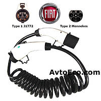 Зарядный кабель для Fiat 500e Type1 (J1772) - Type 2 (32A - 5 метров)
