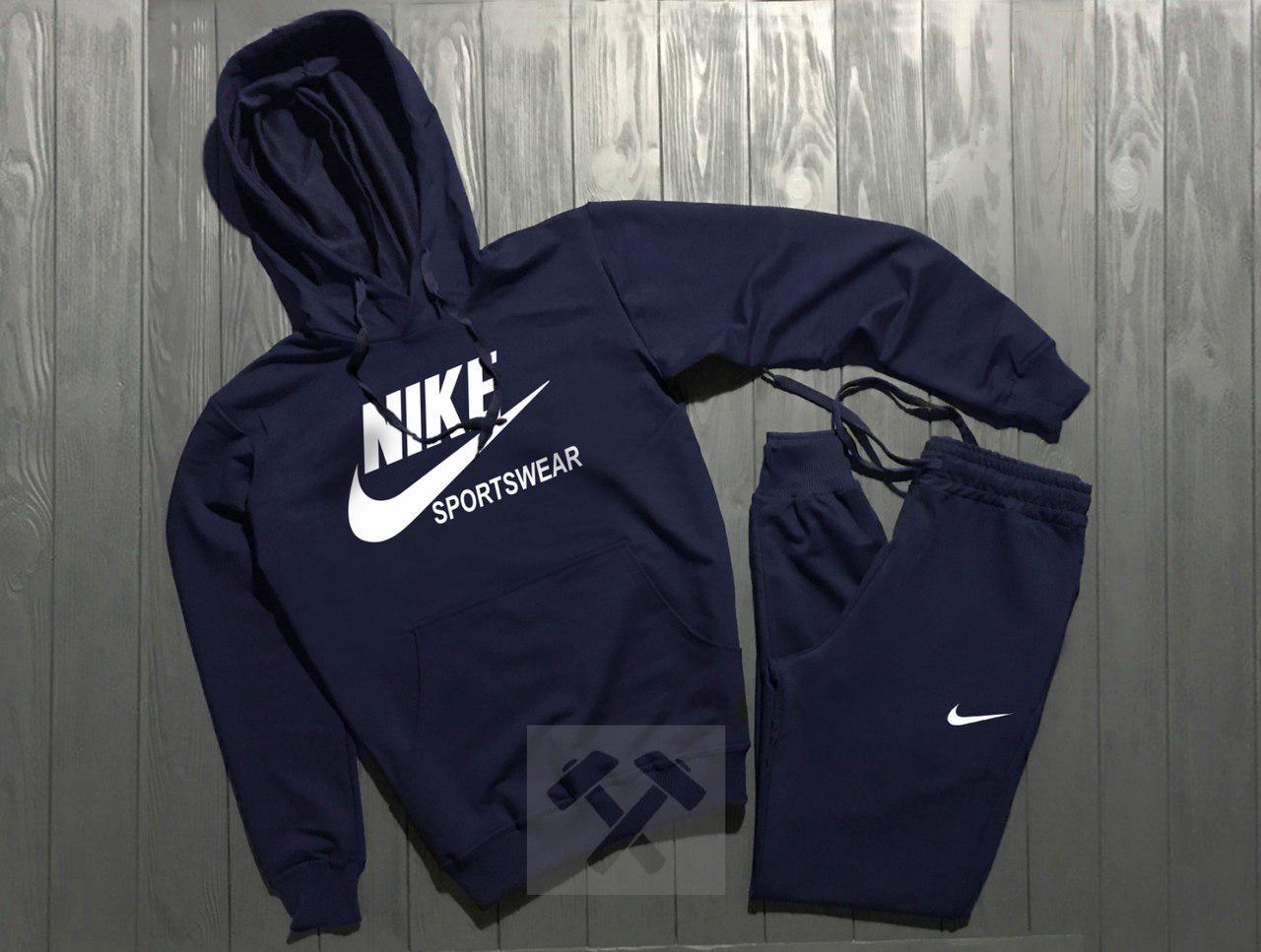 Спортивный костюм Nike Sportswear темно-синий топ реплика