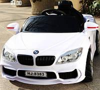 Детский электромобиль БМВ BMW белый (разные цвета). M 2773 EBLR-1. Колеса EVA, кожаное сидение, свет фар.