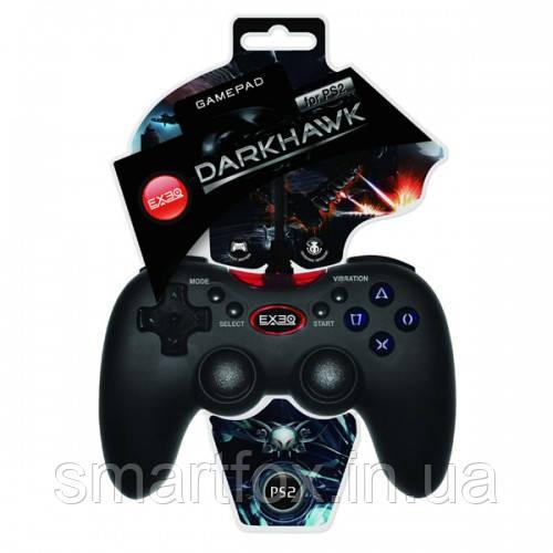 Джойстик ПС2 EXEQ Darkhawk покрытие «Grip Surface»