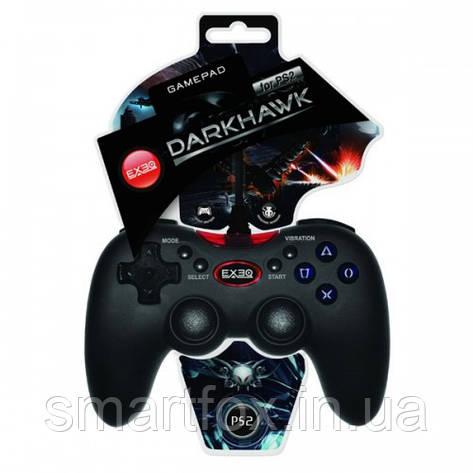 Джойстик ПС2 EXEQ Darkhawk покрытие «Grip Surface», фото 2