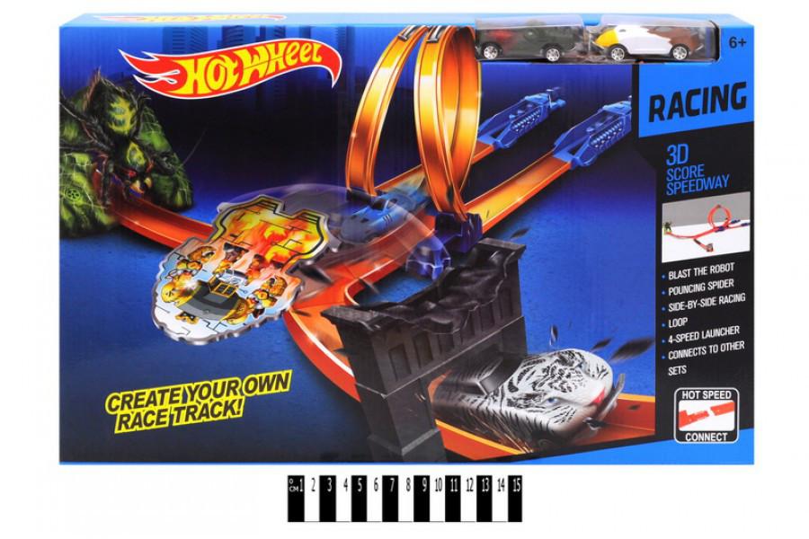 Трек с петлями Hot Wheel 9988-53А, запуск, автотрек хот вилс
