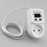 Терморегулятор для панелей цифровой в розетку (-40°...+110°, реле 10А) РТУ-10/П2-NTC
