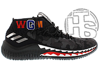 Мужские кроссовки Adidas Dame 4 x Bape Black Camo AP9975