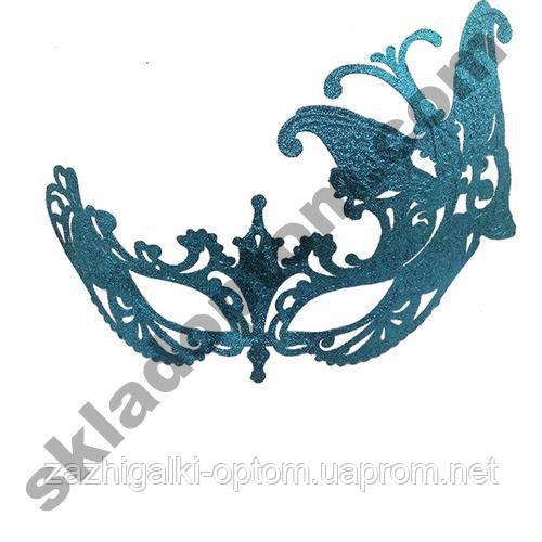 Венецианская маска Баттерфлай (голубая)