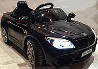 Детский электромобиль БМВ BMW черный (разные цвета). M 2773 EBLR-2. Колеса EVA, кожаное сидение, свет фар.