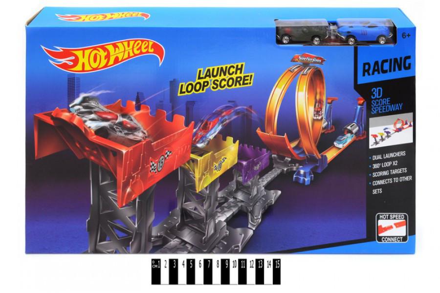 Трек з петлями Hot Wheel 9988-66А, запуск, автотрек хот вил