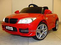Детский электромобиль БМВ BMW красный (разные цвета). M 2773 EBLR-3. Колеса EVA, кожаное сидение, свет фар.