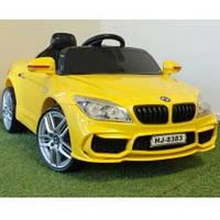 Детский электромобиль БМВ BMW желтый (разные цвета). M 2773 EBLR-6. Колеса EVA, кожаное сидение, свет фар.