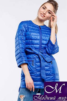 Женская осенняя куртка-плащ батальных размеров (р. 42-54) арт. Белла, фото 2