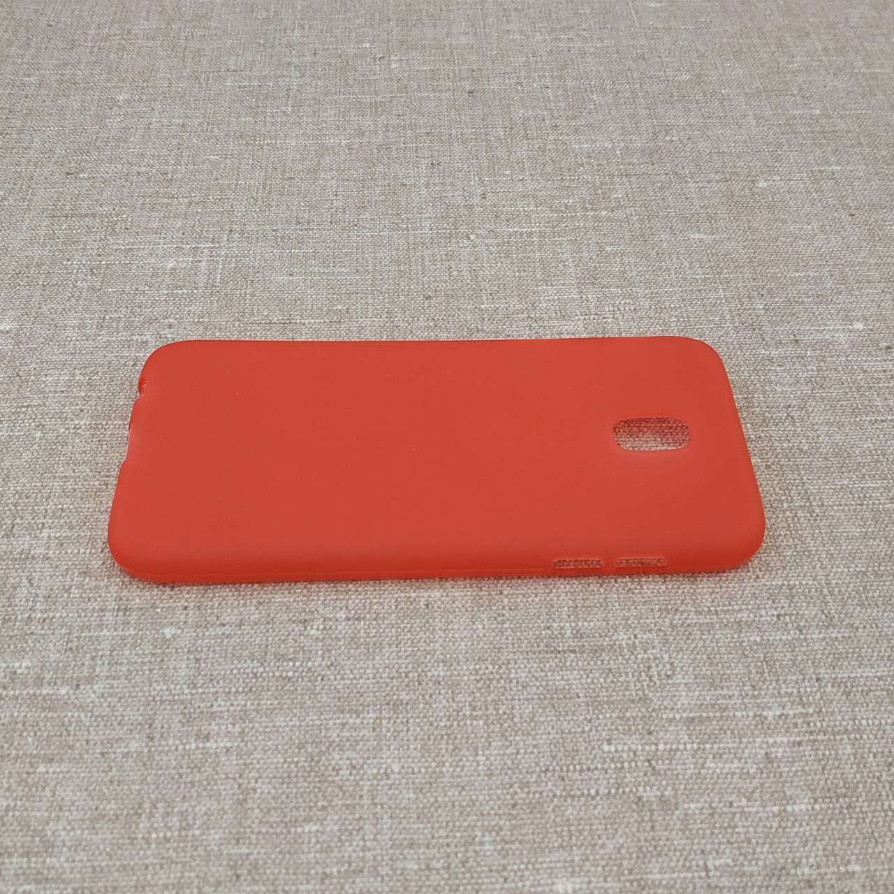 TPU Samsung Galaxy J530 red J5 (J530) 2017 Для телефона