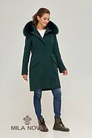 Парка-пальто женская ML изумруд