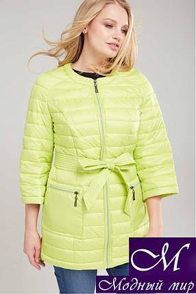 Женская осенняя куртка-плащ с поясом (р. 42-54) арт. Белла, фото 2