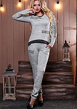 Женский ангоровый костюм с нашивками (2487-2488-2489 svt), фото 2