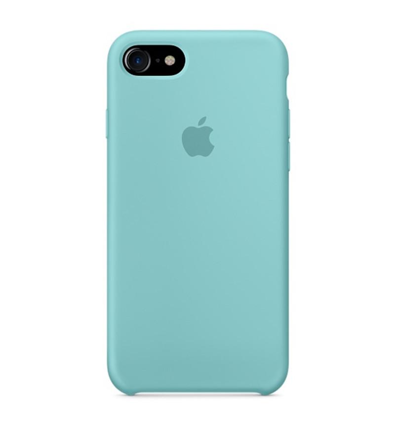 Силиконовый чехол для iPhone 5/SE бирюзовый