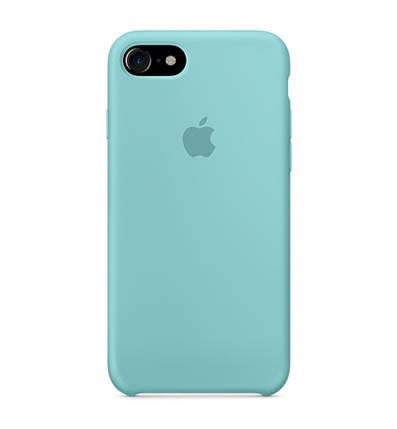Силиконовый чехол для iPhone 5/SE бирюзовый, фото 2