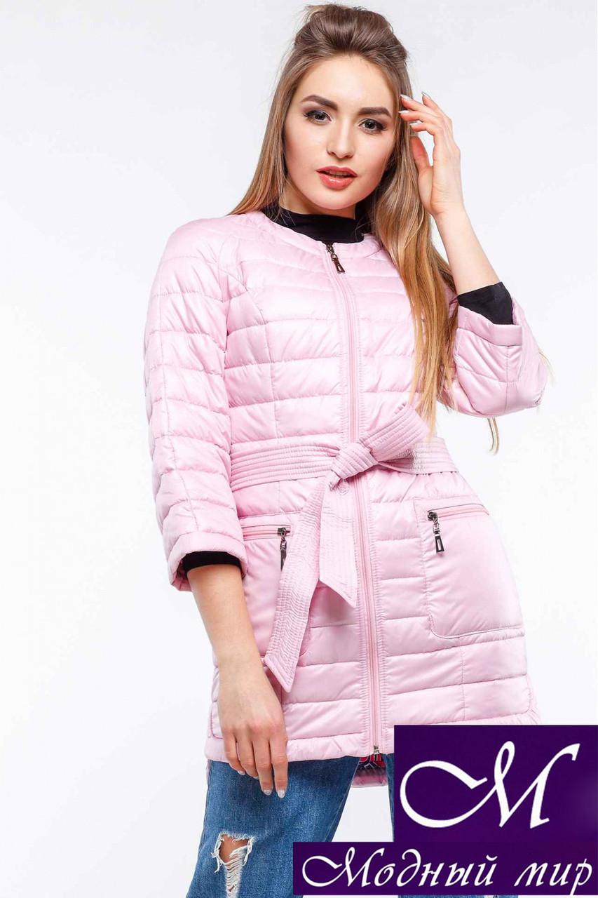 Жіноча осіння рожева куртка-плащ батал (р. 42-54) арт. Белла